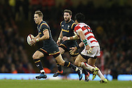 Liam Williams of Wales makes a break.Under Armour 2016 series international rugby, Wales v Japan at the Principality Stadium in Cardiff , South Wales on Saturday 19th November 2016. pic by Andrew Orchard, Andrew Orchard sports photography