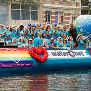 NLD/Amsterdam//20170805 - Gay Pride 2017, Boot van Waternet