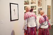 ARTISTS ADELLE & EVA;, Opening of Art Basel Miami Beach. Convention Centre.  Miami Beach. 30 November 2010. -DO NOT ARCHIVE-© Copyright Photograph by Dafydd Jones. 248 Clapham Rd. London SW9 0PZ. Tel 0207 820 0771. www.dafjones.com.