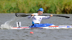 JERNEJ ZUPANCIC REGENT (SLOVENIA) COMPETES IN MEN'S K1 1000 METERS QUALIFICATION RACE DURING 2010 ICF KAYAK SPRINT WORLD CHAMPIONSHIPS ON MALTA LAKE IN POZNAN, POLAND...POLAND , POZNAN , AUGUST 19, 2010..( PHOTO BY ADAM NURKIEWICZ / MEDIASPORT ).