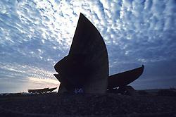 Outdoor sculpture located in the port city of Jiddah, Saudi Arabia.