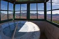 Adams, firetower, cab, inside,high peaks, mountains, view, Adirondacks, Adirondack Park, fall, autumn, vista