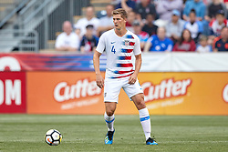 May 28, 2018 - Chester, PA, U.S. - CHESTER, PA - MAY 28: United States defender Walker Zimmerman (4) dribbles the ball during the international friendly match between the United States and Bolivia at the Talen Energy Stadium on May 28, 2018 in Chester, Pennsylvania. (Photo by Robin Alam/Icon Sportswire) (Credit Image: © Robin Alam/Icon SMI via ZUMA Press)