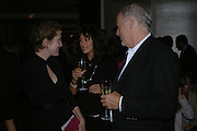 Justine Picardie, David Gilmour and Polly Sampson. Launch of the Sunday Telegraph magazine 'Stella'. Momo, Berkeley St. London.   November 2005 . ONE TIME USE ONLY - DO NOT ARCHIVE © Copyright Photograph by Dafydd Jones 66 Stockwell Park Rd. London SW9 0DA Tel 020 7733 0108 www.dafjones.com