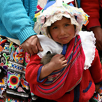 Americas, South America, Peru, Pisac. Quechua girl.