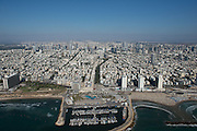 Aerial Photography of Tel Aviv Marina, Israel