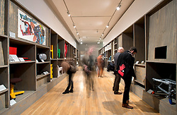 © Licensed to London News Pictures. 29/01/2013. London, United Kingdom. The launch of the Design Museum Collection: Extraordinary stories about ordinary things.  This new permanent collection display reveals intriguing insights in the most exceptional of everyday objects.  National identity is explored through objects define a nation such as the phone box and road sinage. Photo credit : Justin Setterfield/LNP