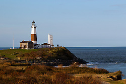 Montauk Lighthouse at sunset