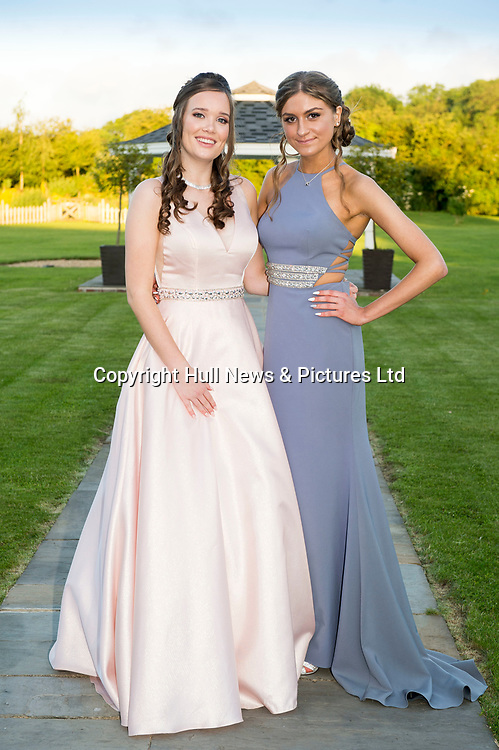 27 June 2019: Somercotes Academy Year 11 prom at the Brackenborough Hotel near Louth.<br /> (l-r) Jessica Lee and Mia Russell.<br /> Picture: Sean Spencer/Hull News & Pictures Ltd<br /> 01482 210267/07976 433960<br /> www.hullnews.co.uk         sean@hullnews.co.uk