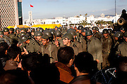 Tunis, Tunisia. January 28th 2011.The army appear to change its position....