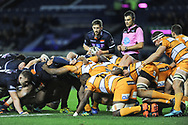 Edinburgh's pack were dominant in the scrum during the Guinness Pro 14 2018_19 match between Edinburgh Rugby and Toyota Cheetahs at BT Murrayfield Stadium, Edinburgh, Scotland on 5 October 2018.