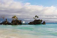 Philippines, region de Panay, île de Boracay, White beach. // Philippines, Panay area, Boracay island, White Beach.