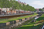 Canal. Perpignan, Roussillon, France.
