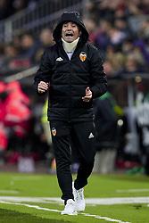 January 6, 2018 - Valencia, Valencia, Spain - Marcelino Garcia Toral head coach of Valencia CF  reacts at the dugout during the La Liga game between Valencia CF and Girona FC at Mestalla on January 6, 2018 in Valencia, Spain  (Credit Image: © David Aliaga/NurPhoto via ZUMA Press)