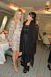 Left to right, PIPPA VOSPER and ZARA MARTIN at a breakfast hosted by Halcyon Days at Fortnum & Mason, 181 Piccadilly, London on 8th July 2014.