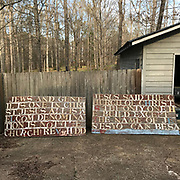**Outdoor sign 4ft by 8ft from atop grocery hand made with 7in plastic letter- text- welcoming Jews & gentiles..<br /> <br /> THIS IS PART OF OUR COLLECTION OF MARGARET'S GROCERY AND REV. H.D. DENNIS - ART WORKS in Mississippi Folk Art Foundations Collection <br /> <br /> Ms. Altman is the Founder and Director of the Mississippi Folk Art Foundation a non profit, that is dedicated to preserving Margaret's Grocery. A visionary outdoor folk environment in Vicksburg Mississippi.<br />  to see some of the collection documented by William Arnett in his book Souls Grown Deep volume 2 please see see link below.<br /> <br /> http://www.soulsgrowndeep.org/artist/rev-harmon-d-dennis<br /> <br /> <br /> https://www.gofundme.com/SaveMargaretsGrocery?lang=en-US