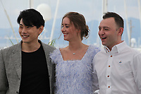 Teo Yoo, Irina Starshenbaum and Roma Zver at the Leto (Summer) film photo call at the 71st Cannes Film Festival, Thursday 10th May 2018, Cannes, France. Photo credit: Doreen Kennedy