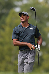 August 9, 2018 - St. Louis, Missouri, United States - Tiger Woods tees off during the first round of the 100th PGA Championship at Bellerive Country Club. (Credit Image: © Debby Wong via ZUMA Wire)
