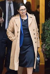 Downing Street, London, December 13th 2016. International Development Secretary Priti Patel leaves the weekly meeting of the cabinet at Downing Street, London.