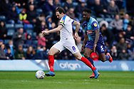 Brett Pitman of Portsmouth in action during the EFL Sky Bet League 1 match between Wycombe Wanderers and Portsmouth at Adams Park, High Wycombe, England on 6 April 2019.