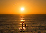 © Licensed to London News Pictures. 24/11/2014. Southwold, UK Sunrise over Southwold Pier this morning, 28th November 2014. Weather across the UK is expected to bright and cold today. Photo credit : Stephen Simpson/LNP