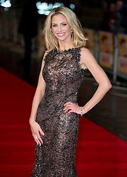 Sarah Harding arrive for the Run For Your Wife - UK film premiere Odeon -Leicester Sq- London Brit comedy about a happily married man - with two wives, Tuesday  February 5, 2013. Photo: Andrew Parsons / i-Images