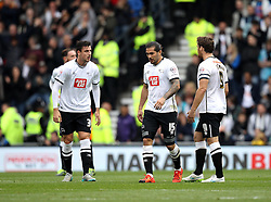 George Thorne, Bradley Johnson and Chris Martin of Derby County cut frustrated figures - Mandatory byline: Robbie Stephenson/JMP - 07966 386802 - 18/10/2015 - FOOTBALL - iPro Stadium - Derby, England - Derby County v Wolverhampton Wanderers - Sky Bet Championship