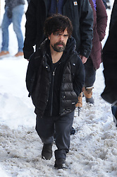 EXCLUSIVE: Peter Dinklage wears a Game of Thrones backpack as he promote his film 'Rememory' At Sundance. The Game of Thrones actor was seen promoting his film in snowy Park City, Utah!. 24 Jan 2017 Pictured: Peter Dinklage. Photo credit: Atlantic Images / MEGA TheMegaAgency.com +1 888 505 6342