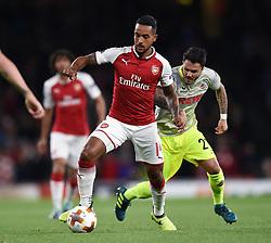 Theo Walcott of Arsenal in possession - Mandatory by-line: Patrick Khachfe/JMP - 14/09/2017 - FOOTBALL - Emirates Stadium - London, England - Arsenal v Cologne - UEFA Europa League Group stage