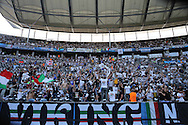 Juventus fans befre the Champions League Final between Juventus FC and FC Barcelona at the Olympiastadion, Berlin, Germany on 6 June 2015. Photo by Phil Duncan.