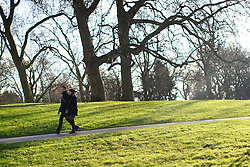 © licensed to London News Pictures. London, UK 02/01/2014. People enjoying the sunshine in Green Park, London on Thursday, January 2, 2014. Photo credit: Tolga Akmen/LNP