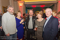 (l to r) Martin O'Toole, Kalaane O'Leary, Brendan O'Toole, Graine McGrotty, and Niall McGrotty at the reunion night to celebrate 50 years of the Irish Fireball Class, held at the Royal St George YC.