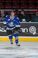 KELOWNA, CANADA - DECEMBER 30: Jack Walker #9 of the Victoria Royals warms up against the Kelowna Rockets on December 30, 2016 at Prospera Place in Kelowna, British Columbia, Canada.  (Photo by Marissa Baecker/Shoot the Breeze)  *** Local Caption ***