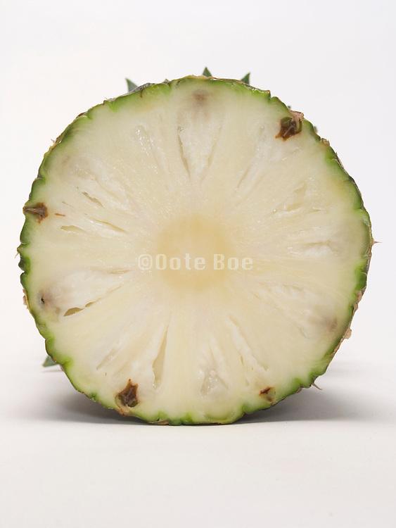 cross cut of a pineapple