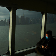 NYTVIRUS<br /> A view from the ferry in New York on Monday, March 16, 2020. John Taggart for The New York Times