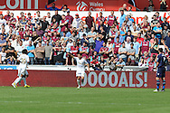Swansea city's Angel Rangel © celebrates after he scores the 1st goal. Barclays Premier league, Swansea city  v West Ham Utd at the Liberty Stadium in Swansea, South Wales  on Saturday 25th August 2012. pic by Andrew Orchard, Andrew Orchard sports photography,