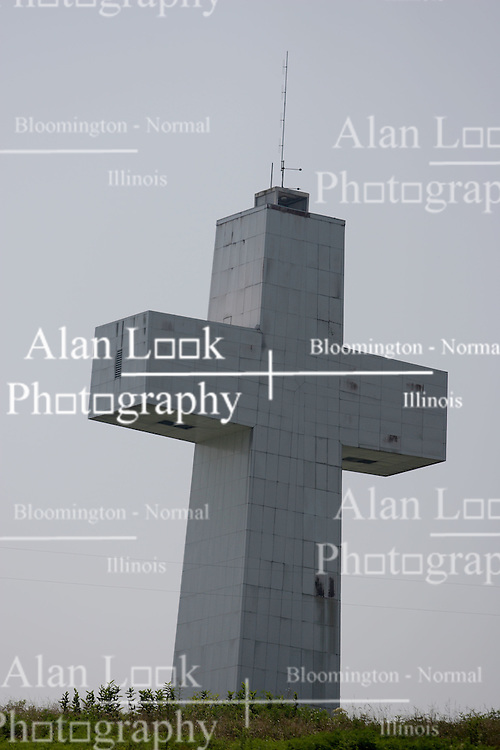 July 2007: Bald Knob Cross was built in 1963 using donations from across the United States and other countries as a national  symbol of man's faith in God. Alto Pass Illinois