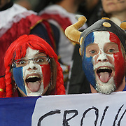French fans during the New Zealand V France, Pool A match during the IRB Rugby World Cup tournament. Eden Park, Auckland, New Zealand, 24th September 2011. Photo Tim Clayton...