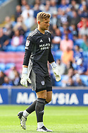 Cardiff City goalkeeper Dillon Phillips (1) before the start of the EFL Sky Bet Championship match between Cardiff City and Bristol City at the Cardiff City Stadium, Cardiff, Wales on 28 August 2021.