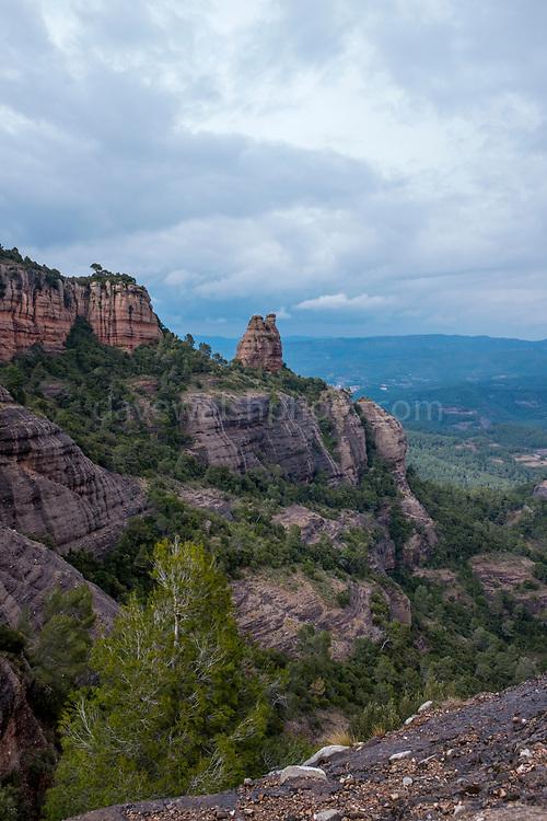 Cliffs on La Mola, Parc Natural de Sant Llorenç del Munt i l'Obac, Catalonia