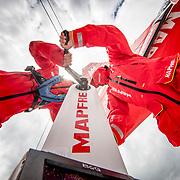 © Maria Muina I MAPFRE. Guest sailing on board MAPFRE in Melbourne. / Invitados navegando en el MAPFRE en Melbourne.