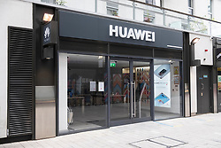 © Licensed to London News Pictures. 14/07/2020. London, UK. A Huawei mobile phone store and service centre in North West London. The British government is expected today to announce a decision on the future involvement  on the future 5G network and Huawei telecoms firm. Photo credit: London News Pictures
