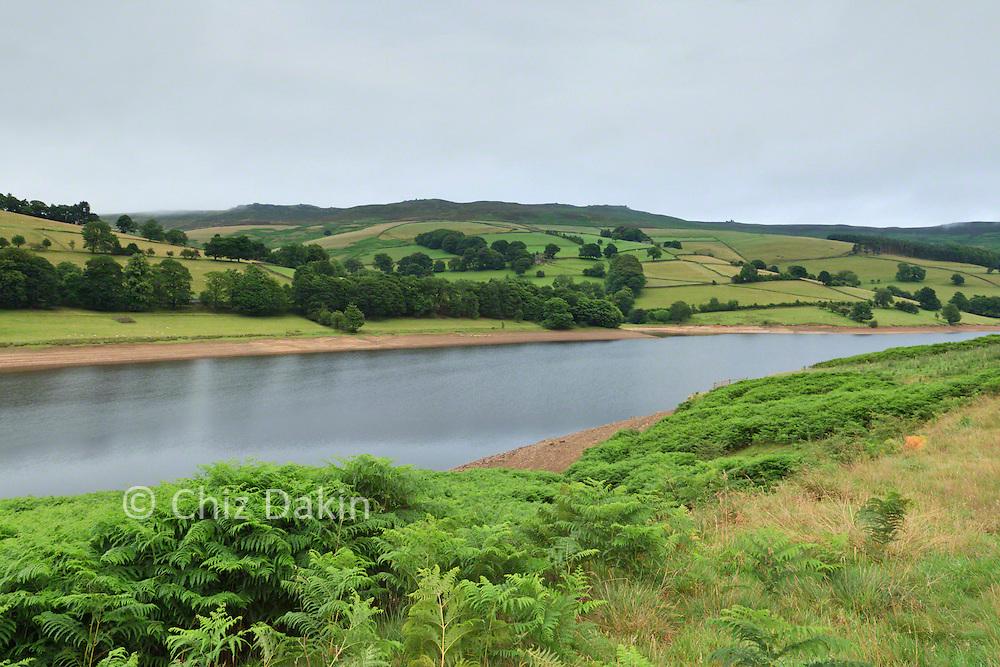 View back along Ladybower Reservoir from roadside by Bridge End Car park