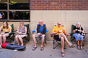 05 JUNE 2021 -DES MOINES, IOWA: The Des Moines Farmers Market is the largest weekly Farmers Market in Iowa. The market was cancelled in 2020 because of COVID-19 pandemic. It reopened in a limited way in 2021. In order to comply with Coronavirus safety guidelines, traffic is one way past the stands and people are required to wear face masks, it reopened completely and dropped face mask requirements for shoppers after Memorial Day. This year there will be about 115 vendors, 75% the normal number of vendors.     PHOTO BY JACK KURTZ