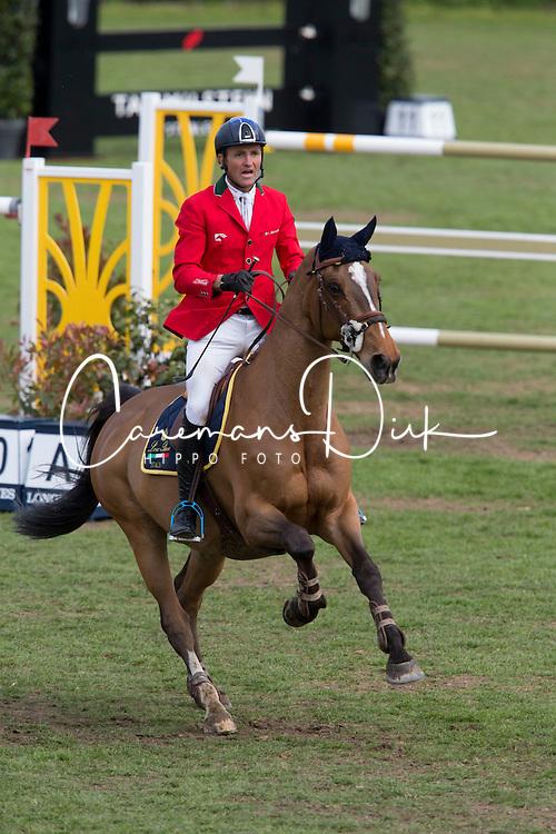 Moneta Luca Maria, (ITA), Neptune Brecourt <br /> Furusiyya FEI Nations Cup of Belgium<br /> Longines Spring Classic of Flanders - Lummen 2015<br /> © Hippo Foto - Leanjo de Koster<br /> 01/05/15
