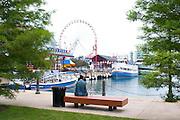 Ferris wheel at Navy Pier. Chicago Illinois USA