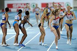 01-08-2010 ATLETIEK: EUROPEAN ATHLETICS CHAMPIONSHIPS: BARCELONA<br /> RUSSIA (RUS) - Winner WL 4x400m Relay Women / USTALOVA, Kseniya and FIROVA, Tatyana <br /> ©2010-WWW.FOTOHOOGENDOORN.NL