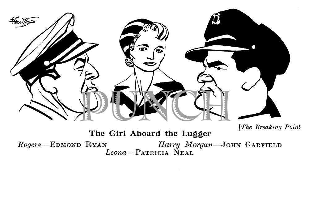 The Breaking Point ; Edmond Ryan , John Garfield and Patricia Neal