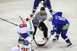 Ales Music of Slovenia during Ice Hockey match between National Teams of Italy and Slovenia in Round #5 of 2018 IIHF Ice Hockey World Championship Division I Group A, on April 28, 2018 in Arena Laszla Pappa, Budapest, Hungary. Photo by David Balogh / Sportida