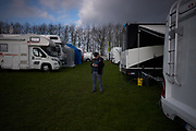 My buddy, Lionel Viaene, who drives Max Anstie's motorhome around to the European races.